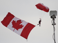 canadian forces skyhawks with canadian flag