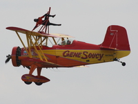 teresa stokes doing acrobat on gene soucy plane