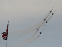 canadian forces snowbirds and british flag