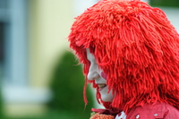 view--clown with red hair