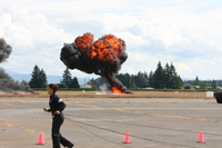 f18 hornet bombing runway Abbotsford, British Columbia, Canada, North America
