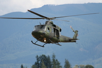 griffin helicopter takes off Abbotsford, British Columbia, Canada, North America