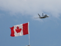 view--f18 super hornet and canadian flag Abbotsford, British Columbia, Canada, North America
