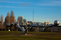 new statue in false creek Abbotsford, British Columbia, Canada, North America
