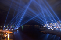 vectorial elevation light display installation Abbotsford, British Columbia, Canada, North America