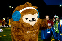 winter olympic mascot quatchi Richmond, British Columbia, Canada, North America