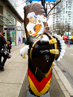 hockey hero painted eagle Vancouver, British Columbia, Canada, North America