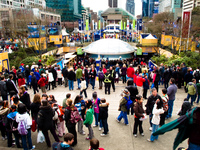 robson square Vancouver, British Columbia, Canada, North America
