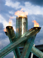 vancouver winter olympic torch 2010 Vancouver, British Columbia, Canada, North America