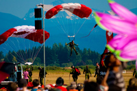parachuting before mount baker Abbotsdord, British Columbia, Canada, North America