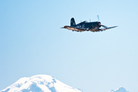 view--fg-1d corsair over mount baker in seattle Abbotsdord, British Columbia, Canada, North America