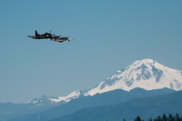 view--skyraider and mustang over mount baker Abbotsdord, British Columbia, Canada, North America