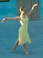 dancer in yellow dress Vancouver, British Columbia, Canada
