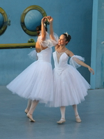 two ballet dancers in white dress Vancouver, British Columbia, Canada