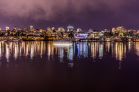 false creek at night Central,  Vancouver,  British Columbia,  Canada, North America