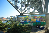artwork under granville bridge