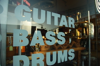 guitar and bass drums