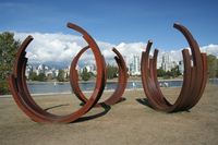 iron coil sculpture