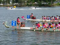 dragon boats on false creek