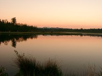 sunset burnaby lake