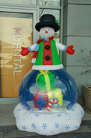 snowman in front of dental office