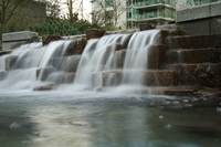 city waterfall