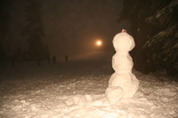 snowman bob on mount seymour