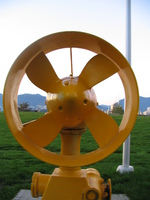 yellow turbine