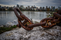 Jericho Beach chains Abbotsdord, British Columbia, Canada, North America
