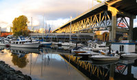 sailboats under granville bridge