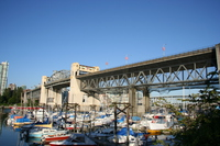 burrard bridge and the boats
