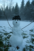 snow man in kanaka creek