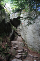 steps through the rocks