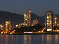 west vancouver night
