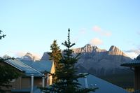 view outside banff lodge