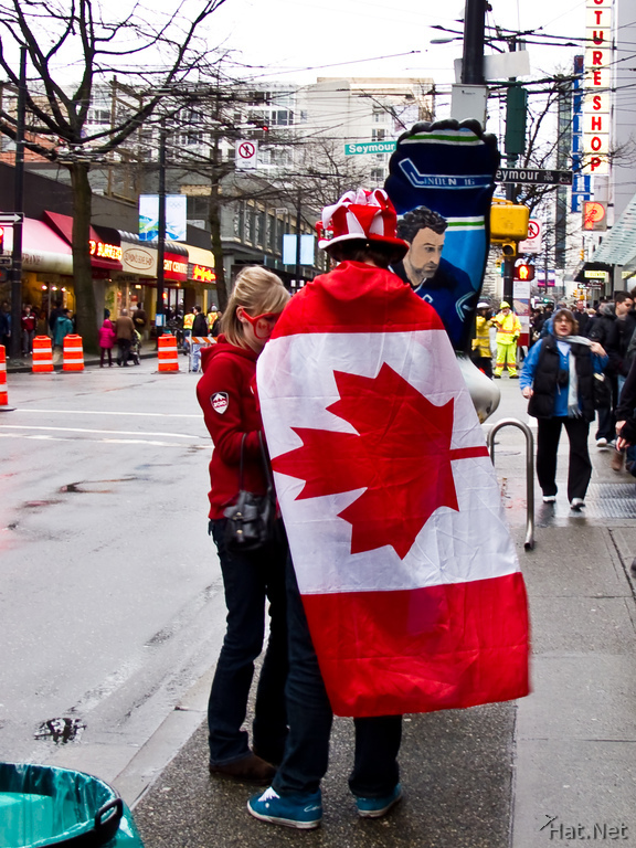 canadian flag in winter olympic