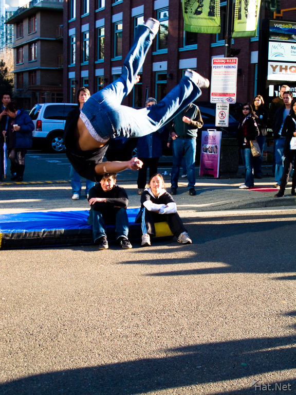 acrobat flip in yaletown
