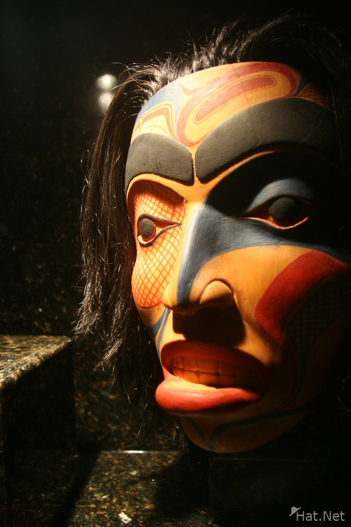not so famous mask in vancouver museum of anthropology
