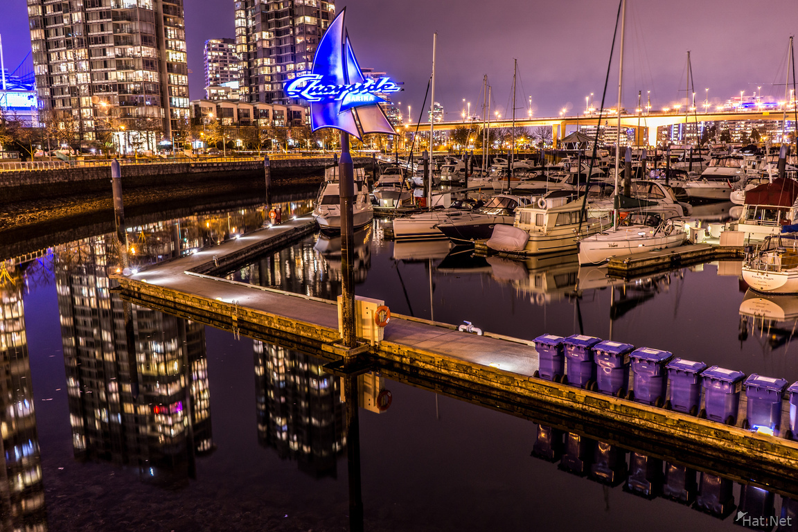 cambie yatcht club at night