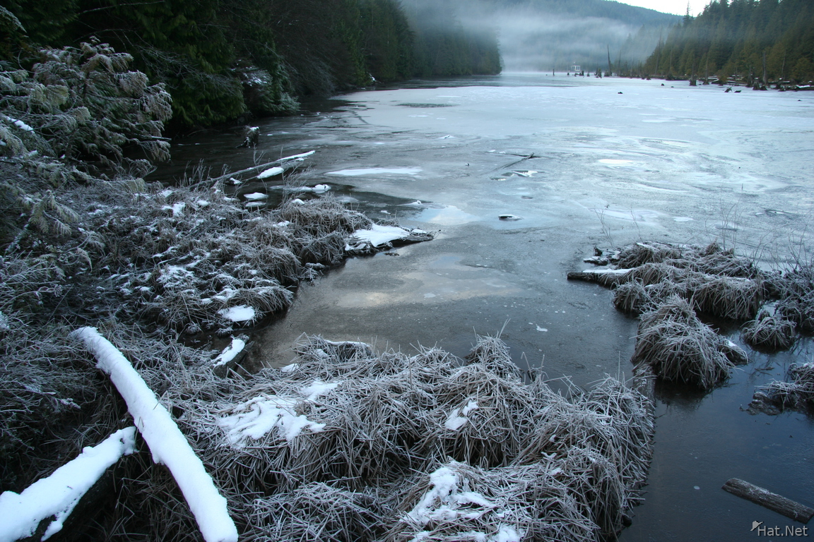 the bunzen lake of snow