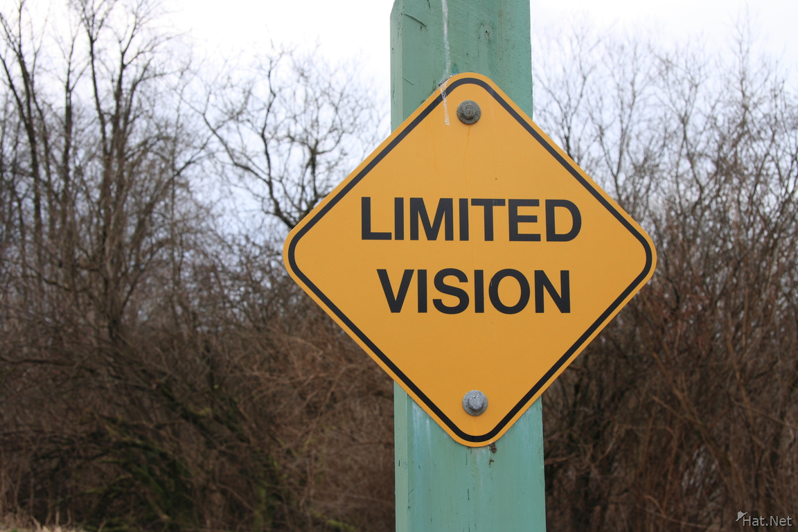limited vision sign