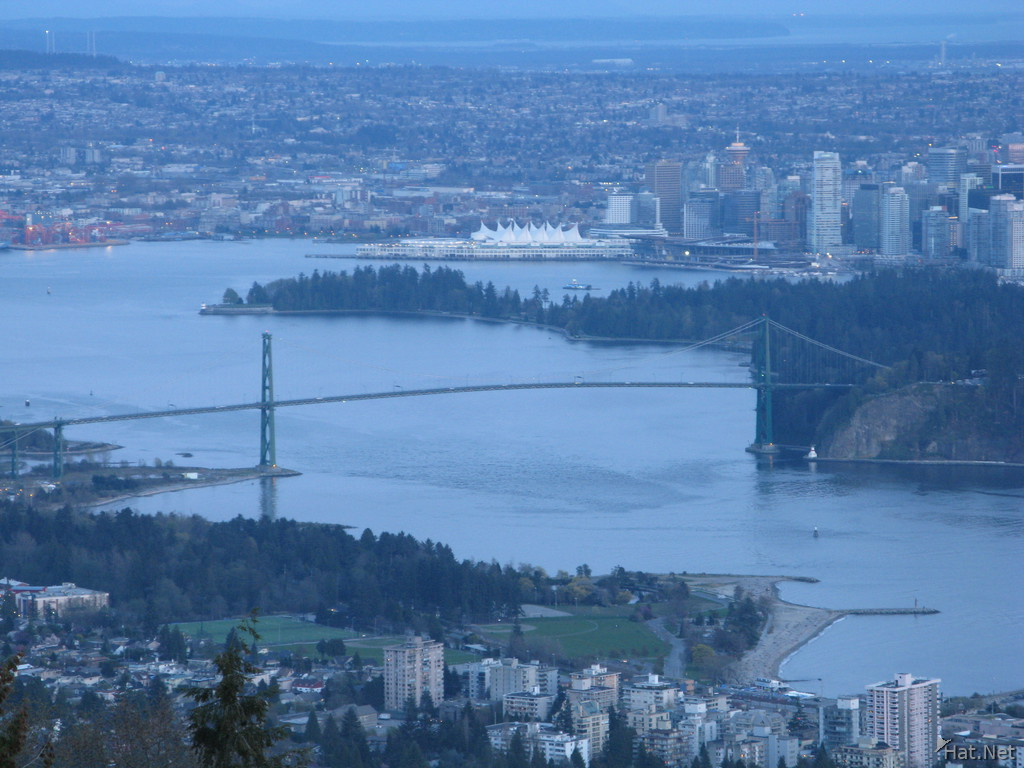 lion gate bridge from cypress